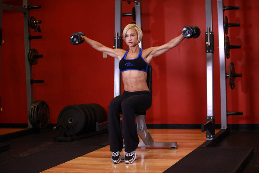 Seated Side Lateral Raise Exercise Guide and Video