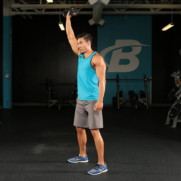 Single-Arm Dumbbell Overhead Squat image
