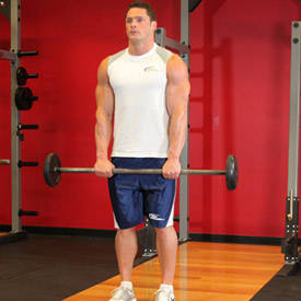 Standing Front Barbell Raise Over Head