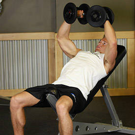 Dumbbell incline bench fly
