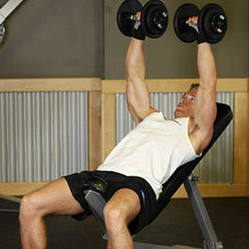 1-1/4 incline dumbbell bench press