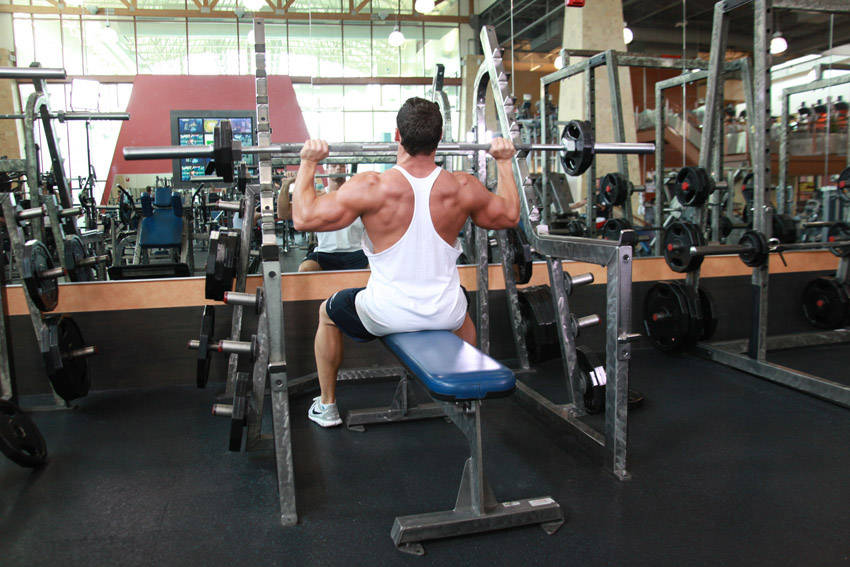 Seated Barbell Military Press Exercise Guide and Video