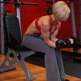 Seated Dumbbell Palms-Up Wrist Curl