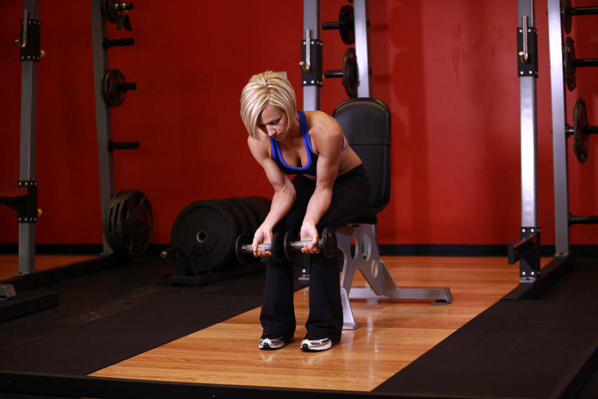 Seated Dumbbell Palms-Down Wrist Curl Exercise Guide and Video