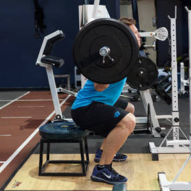 Barbell Squat To A Box image
