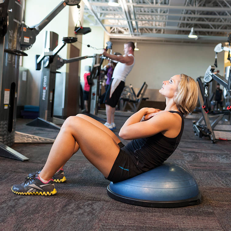Balance Ball Sit Ups: Bosu Ball Crunch Exercise Guide And Video
