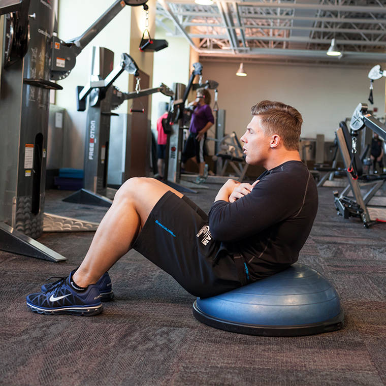 Bosu Ball For Beginners: Bosu Ball Crunch Exercise Guide And Video