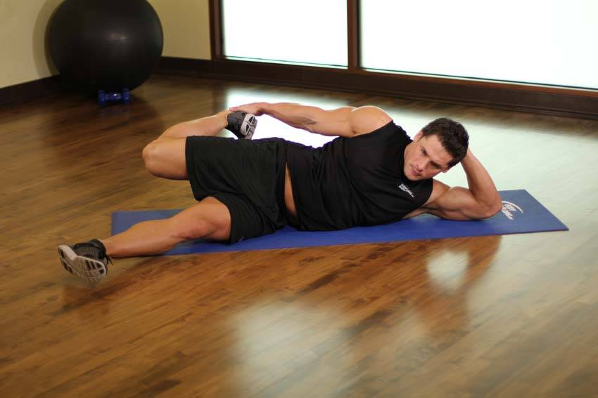 on your side quad stretch exercise guide and video