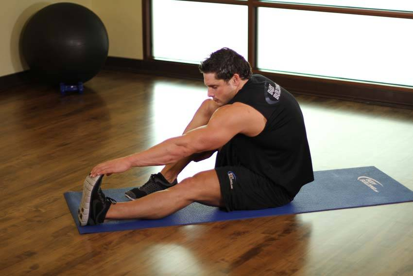 Seated Calf Stretch image