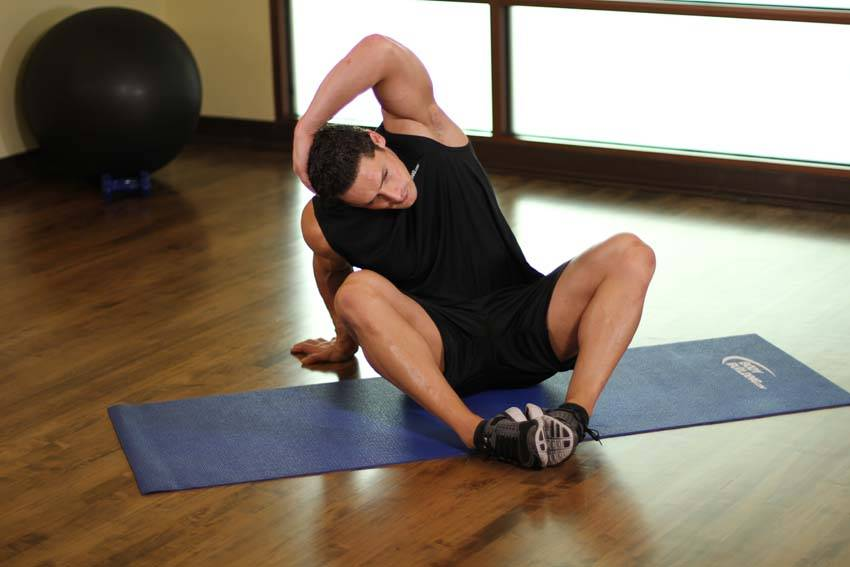 Seated Overhead Stretch image