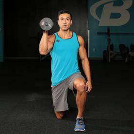 Half-kneeling Dumbbell Shoulder Press