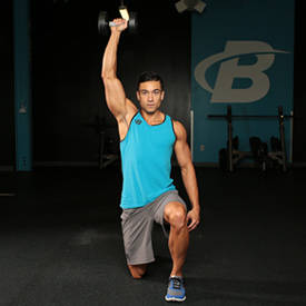Half-kneeling Dumbbell Shoulder Press