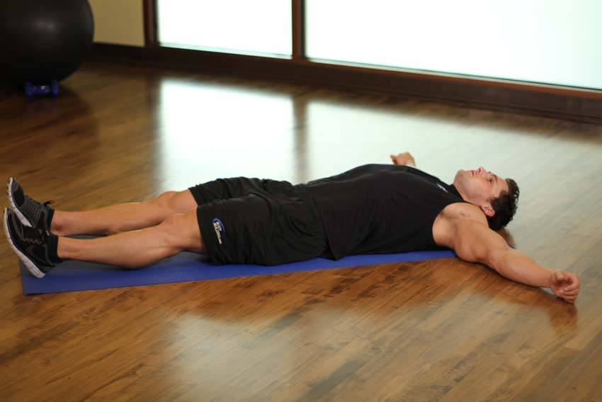 Side Lying Groin Stretch image