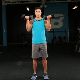 Biceps Curl To Shoulder Press