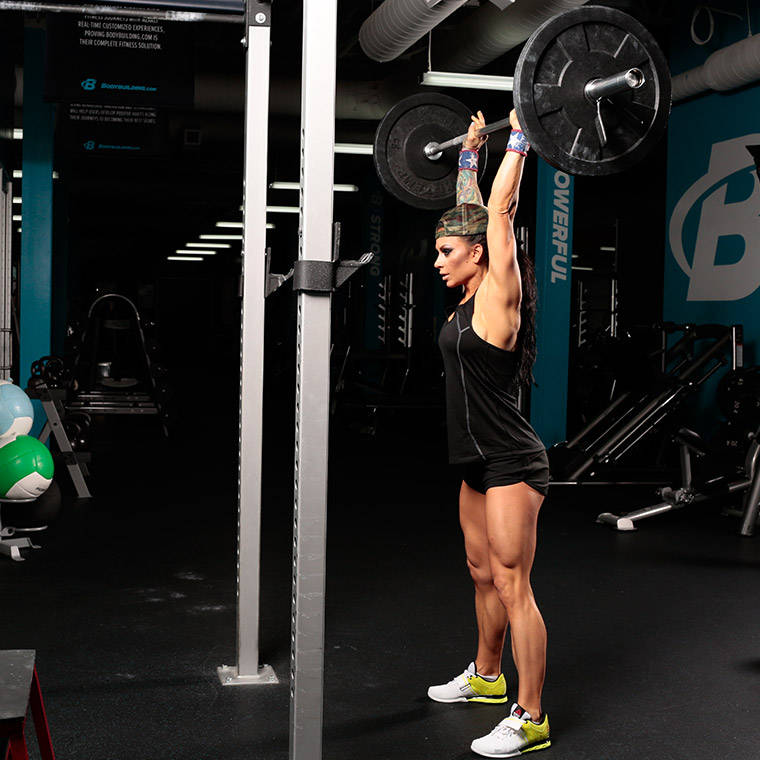 barbell thruster exercise guide and video