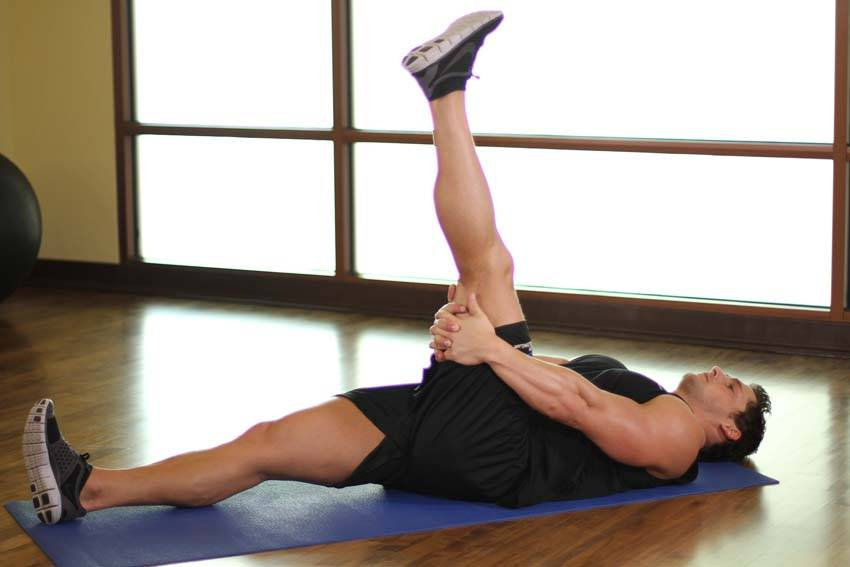 Leg-Up Hamstring Stretch image