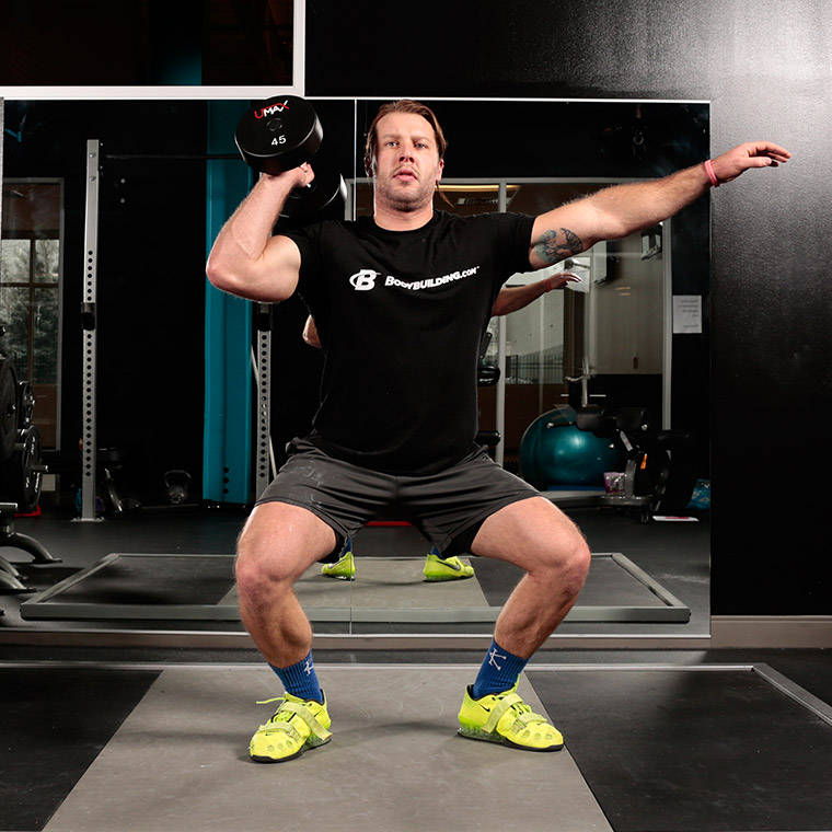 Dumbbell Clean And Jerk image