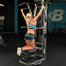 leg press on assisted pullup machine