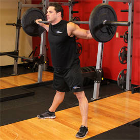 Wide-stance squat with belt