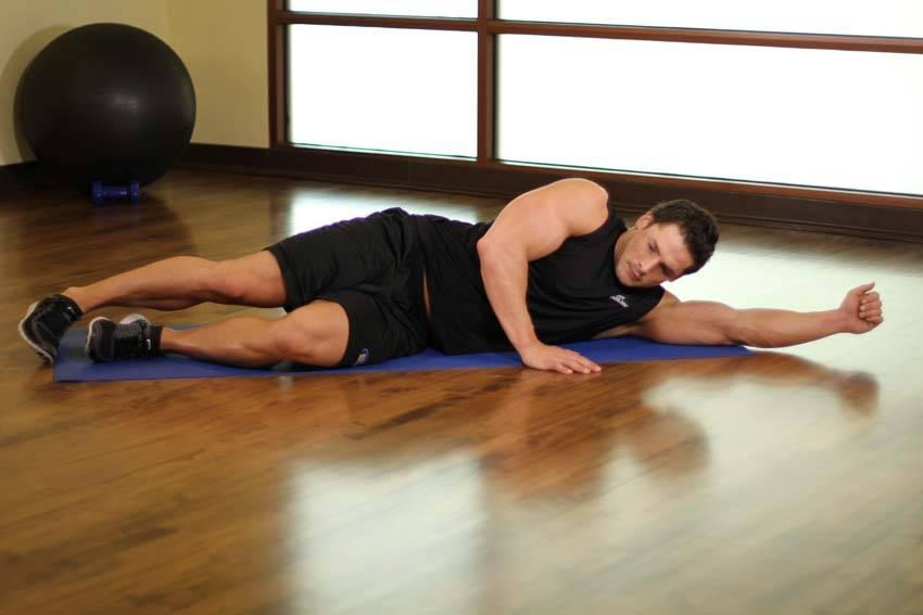 Side-Lying Floor Stretch image
