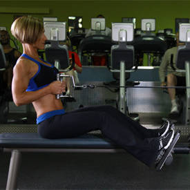 Close-grip seated cable row