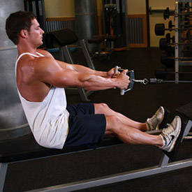 Seated close-grip cable row