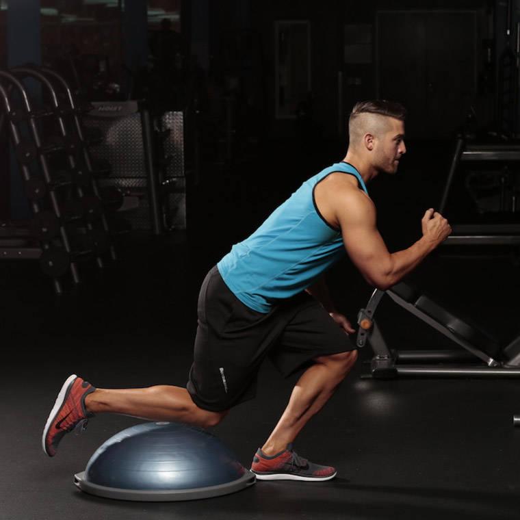 Bosu Ball One Leg Squat: Single-Leg Skater Squat Exercise Guide And Video