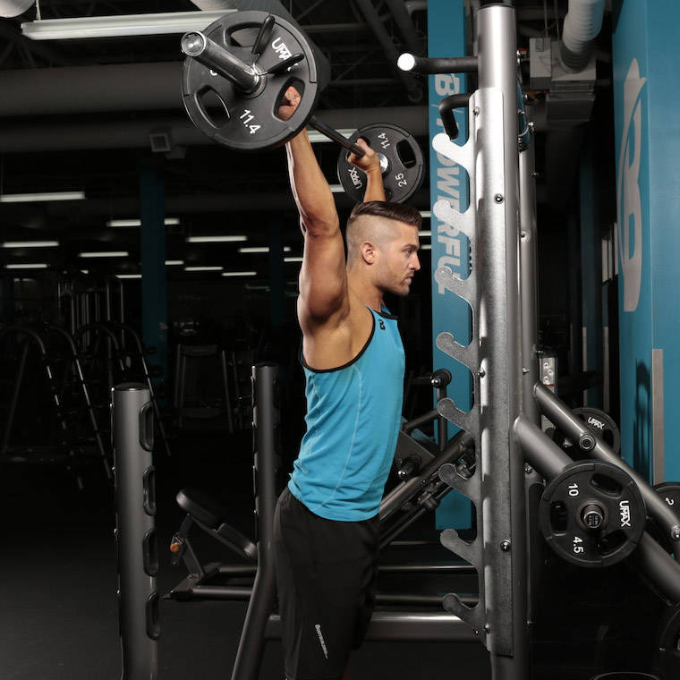 Snatch-Grip Behind-The-Neck Overhead Press image