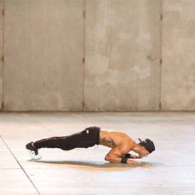 Tiger-bend push-up
