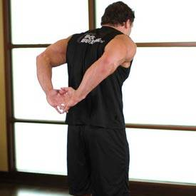 Standing Biceps Stretch image