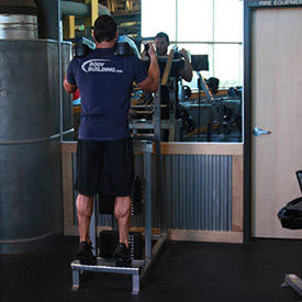 Weighted calf raise