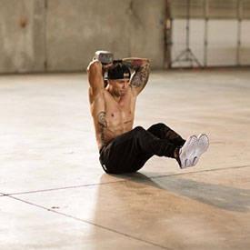 V-Sit Dumbbell Triceps Extension