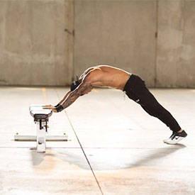 Body Triceps Press Using Flat Bench