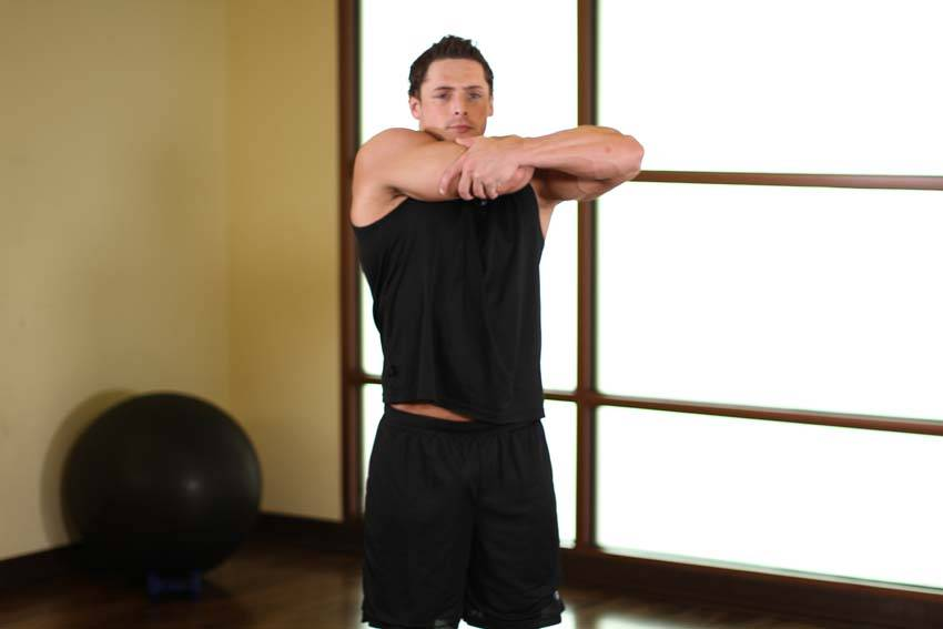 Tricep Side Stretch image