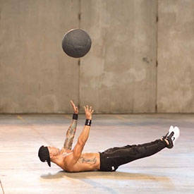 Sit-up with medicine-ball throw