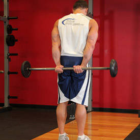Behind-the-back barbell wrist curl