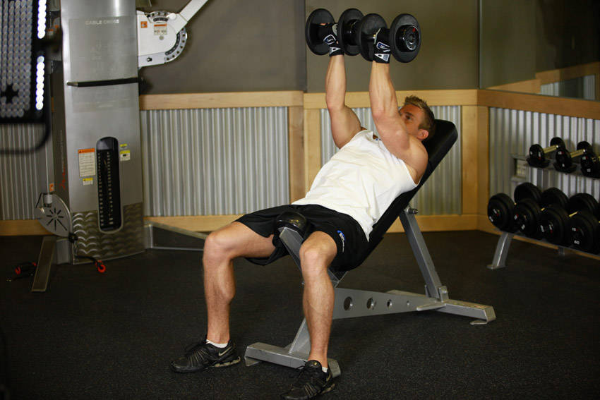 Incline Dumbbell Flyes - With A Twist image