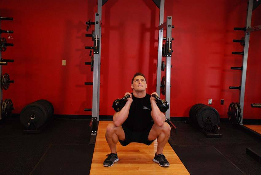 Front Squats With Two Kettlebells image