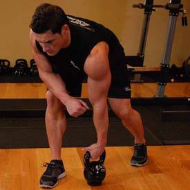 Single-kettlebell row
