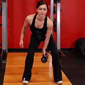 Kettlebell two-handed swing
