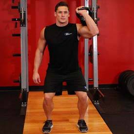 Single-arm dumbbell push press