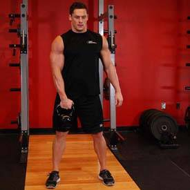 Single-arm dumbbell snatch