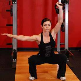 One-Arm Overhead Kettlebell Squats