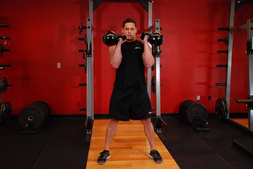Two-Arm Kettlebell Clean image