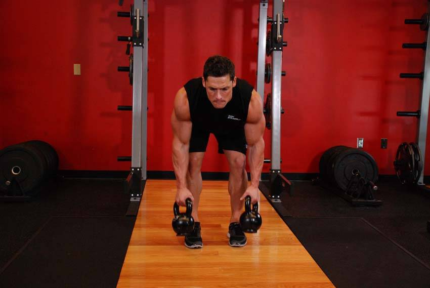 Two-Arm Kettlebell Row image