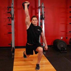 One-Arm Kettlebell Split Jerk