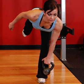 Kettlebell single-leg deadlift