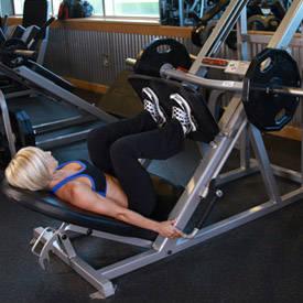 Leg press, hip-width stance