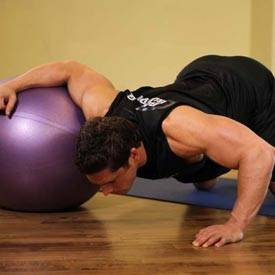 Chest Stretch on Stability Ball