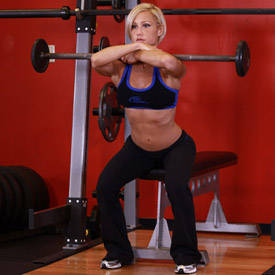 Front Barbell Squat To A Bench